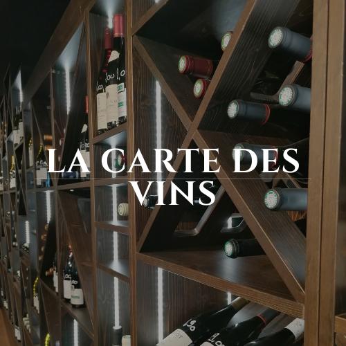 la carte des vins du restaurant