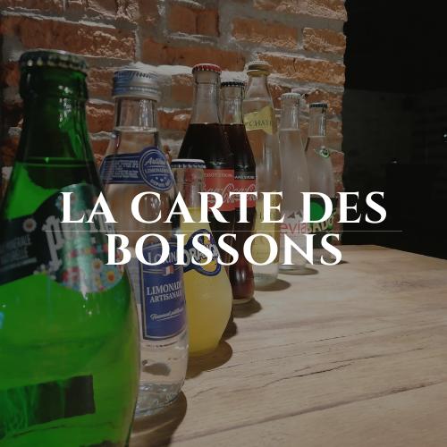 la carte des boissons du restaurant